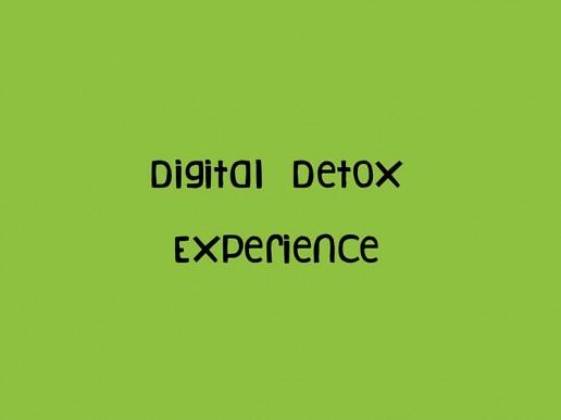 digital detox experience